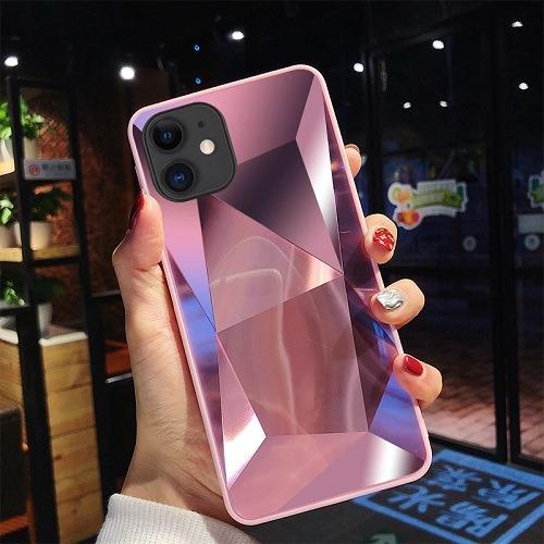 Pink diamond mirror 3D phone Case