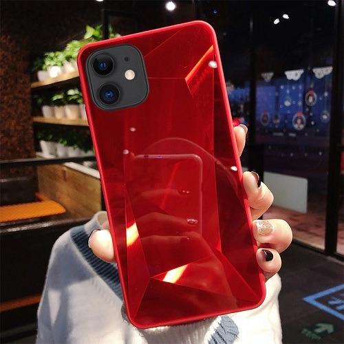 Red diamond mirror 3D phone Case