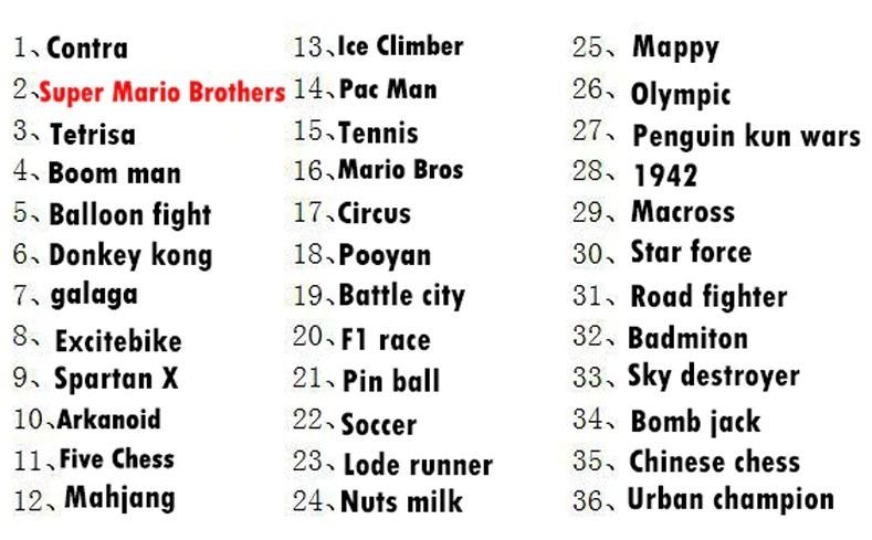 36 classic games