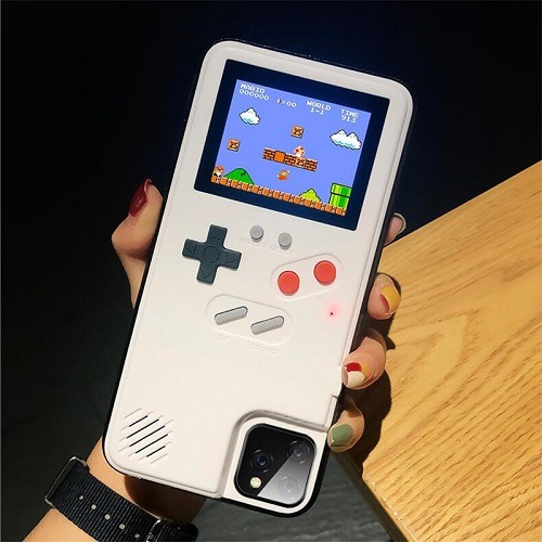 White GameBoy phone case