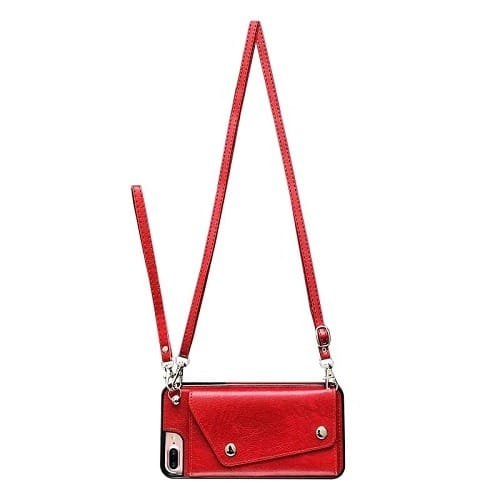 red iphone crossbody case