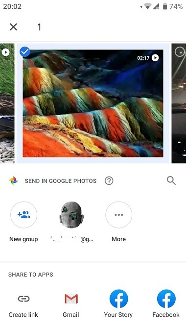 send large video from android using google drive