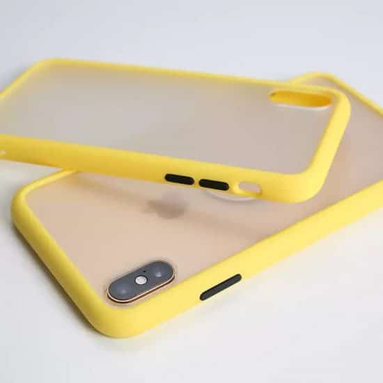 yellow Candy Color Matte Bumper Phone Case