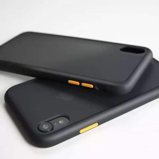 Black Candy Color Matte Bumper Phone Case
