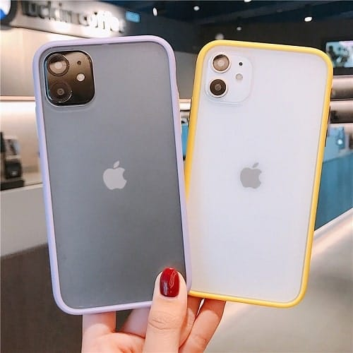 Candy Color Matte Bumper Phone Case (3)-min