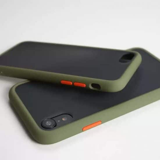 army green Candy Color Matte Bumper Phone Case