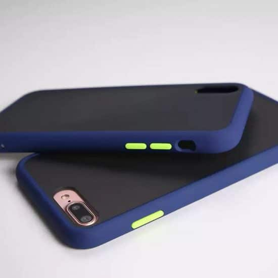 dark blue Candy Color Matte Bumper Phone Case