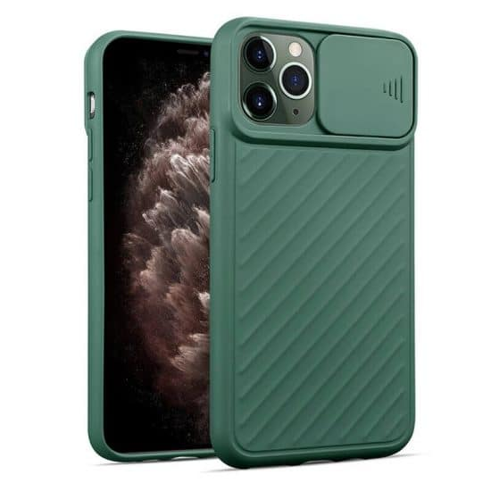 Green camera protection iphone case