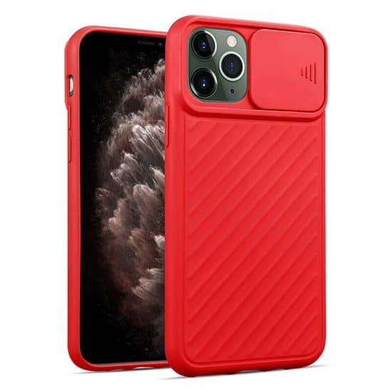 red camera protection iphone case