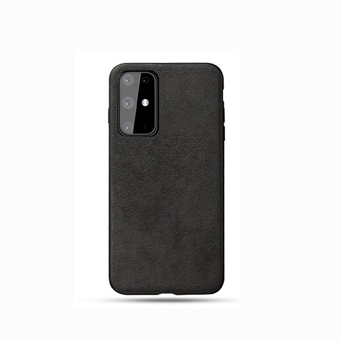 Black alcantara phone case for samsung galaxy s20 Ultra, Plus