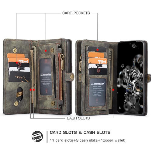 detachable Wallet Phone Case for samsung galaxy s20 Ultra