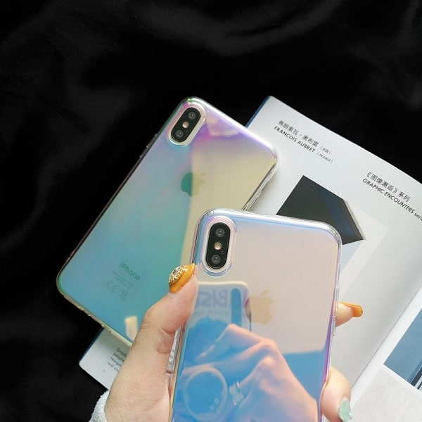 Glossy Gradient Color Rainbow Phone Case