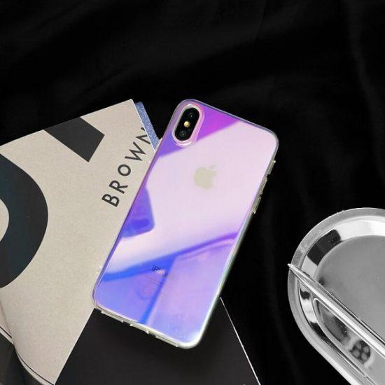 Glossy Gradient Rainbow iPhone Case