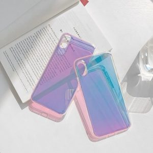 Glossy Gradient Color Rainbow iPhone Case