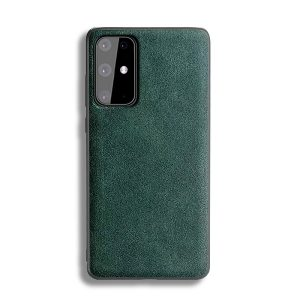 Green alcantara phone case for samsung s20 Plus