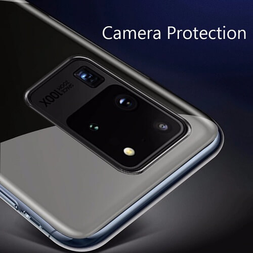 Camera protection Clear phone case cover for samsung S20 Plus Ultra