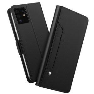 Black Samsung Galaxy S20 Ultra Leather Case