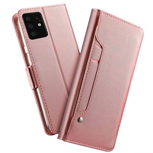 Pink Samsung Galaxy S20 Leather Flip Wallet Case