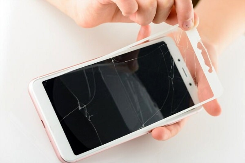 Fast and easy glass screen protector removal