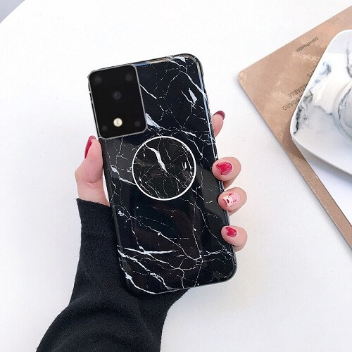 marble samsung s20 case with holder