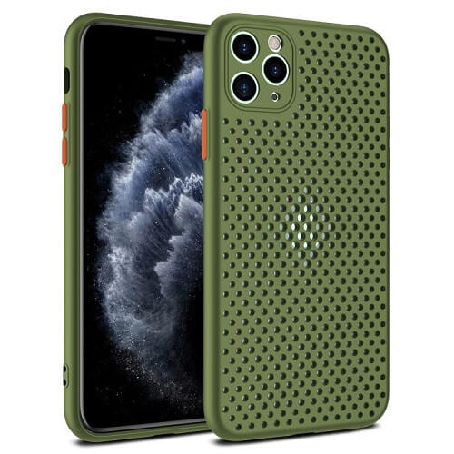 ARMY GREEN Heat Dissipation Breathable Phone Case for iPhone 11