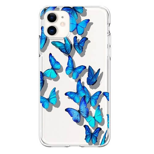 Blue Butterfly Phone Case for iPhone 6 7 8 Plus