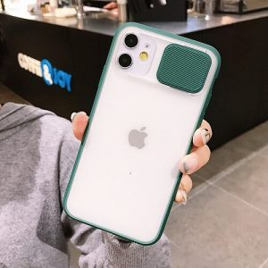 Green Blurred Camera Lens Protection Phone Case