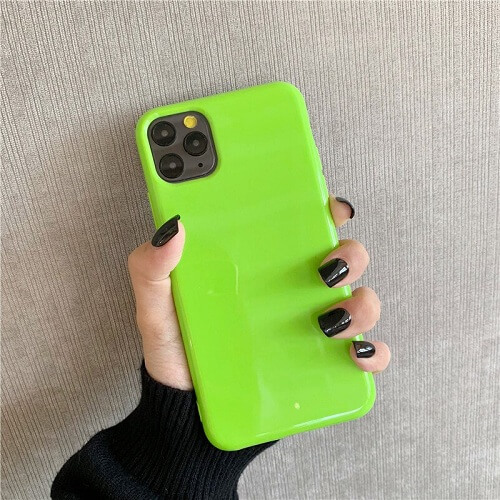 Green Bright Fluorescent Phone Case for iPhone Xs Max