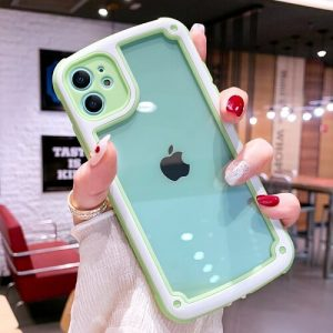 Green Bumper Shockproof Candy Color Phone Case For iPhone