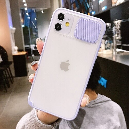 Purple Blurred Camera Lens Protection Phone Case