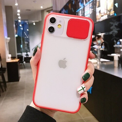 Red Blurred Camera Lens Protection Phone Case