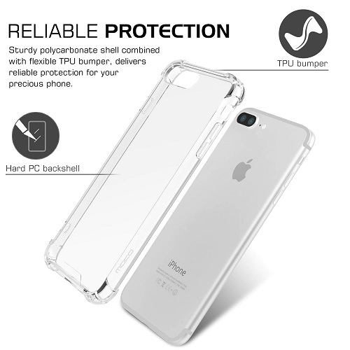 Ultra thin transparent bumper phone case for iPhone 6 7 8 Plus