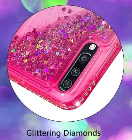 Waterfall Liquid Glitter Diamond Phone Case FOR SAMSUNG s20 PLus