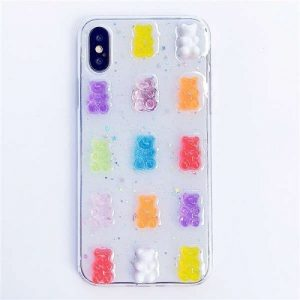 candy colors 3D Gummy bear phone case for iPhone