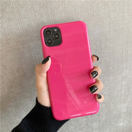 rose red Bright Fluorescent Phone Case for iPhone 11 PRO MAX