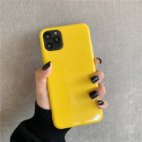yellow Bright Fluorescent iPhone Case