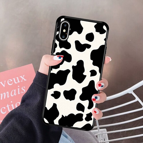 Cow Print Phone Case For iPhone Xs Max