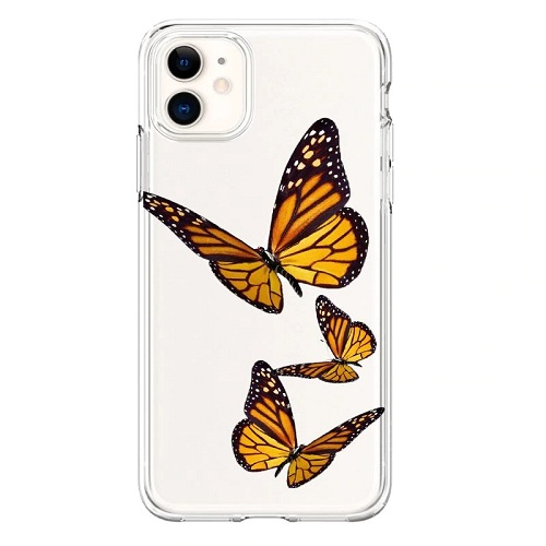 Brown Butterflies Phone Case for iPhone Xs Max