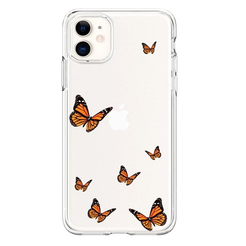 Brown Butterflies Phone Case for iPhone 11 Pro Max
