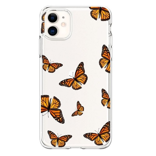 Brown Butterflies Phone Case for iPhone 7 8 Plus