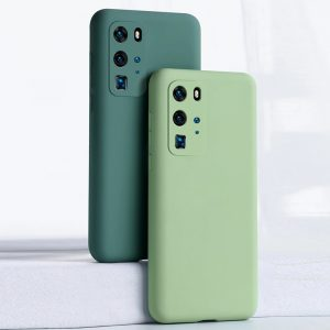 Mint Green Camera Protection silicone Phone Case