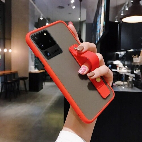 Red Solid Candy Color Case With Wrist Strap