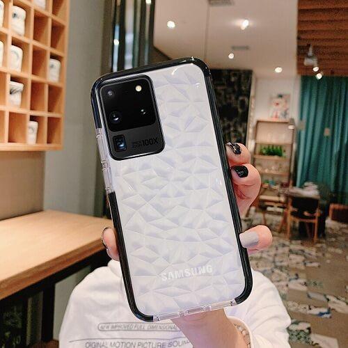 Black Shockproof Diamond phone Case - Samsung Galaxy S20 Plus Ultra