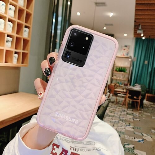 Pink Shockproof Diamond phone Case - Samsung Galaxy S20 Plus Ultra