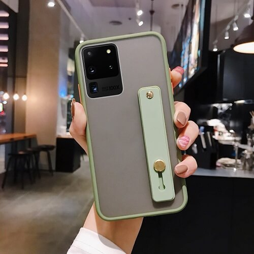 green Solid Candy Color Case With Wrist Strap