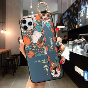 3D Flower Phone Case With Hand Strap For iPhone 11 pro max
