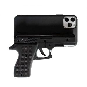 Black 3D Gun shaped phone case for iPhone 11 Pro Max