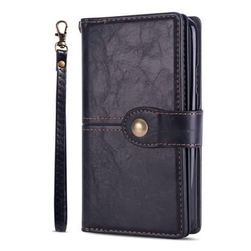 Black samsung galaxy s20 flip wallet case