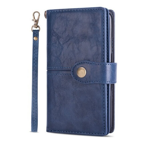 Blue samsung s20 flip wallet case