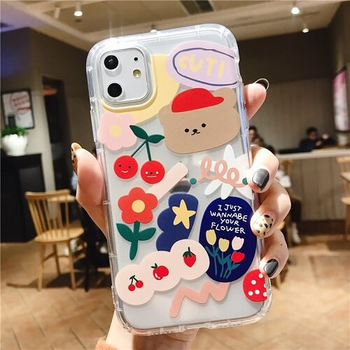 Cartoon Bear Phone Case For iPhone 7 8 PLUS